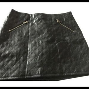 Divided size 4 black leather look skirt never worn